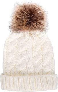 Best knit beanie with faux fur pom pom Reviews