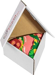 Rainbow Socks, Pizza Socks Box Slice Italiana - Mujer Hombre - 1 par de Calcetines
