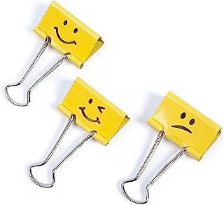 Rapesco Binder Clips, 32 mm Emoji Clips [Pack of 20]