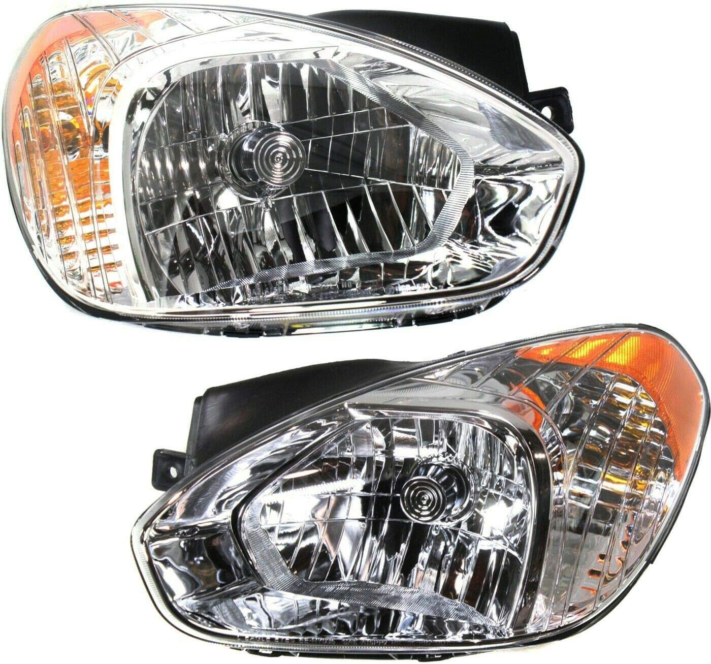 JJ Headlight Set Compatible with 07-11 supreme 5 ☆ very popular Accent 08-11 GL