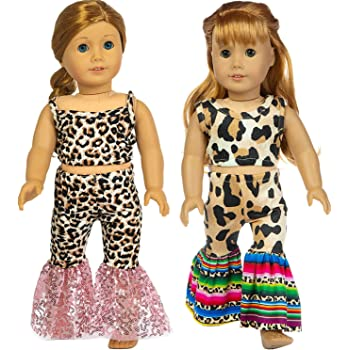 Fit For 18/'/' American Girl Bitty Baby New Star Denim Capri Pants Doll Clothes
