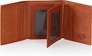Stealth Mode Leather Trifold RFID Wallet for Men with Flip Out ID Holder (Light Brown)