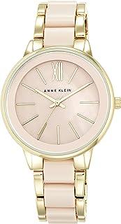 Anne Klein Womens Analogue Classic Quartz Watch with Stainless Steel Strap AK/N1412BMGB
