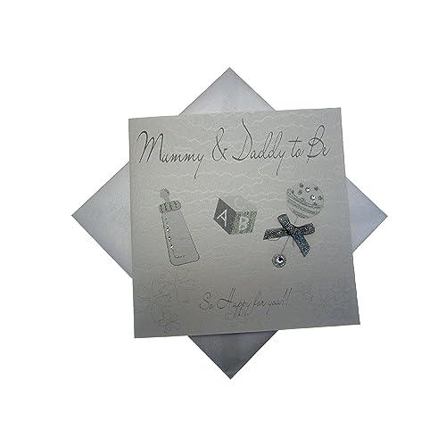 Medium, Pink Rattle White Cotton Cards Baby Photo Album