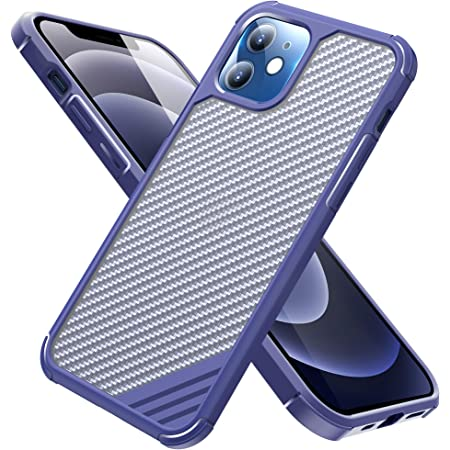 Arae Compatible with iPhone 12 Case/iPhone 12 Pro Case Military Grade Anti-Scrach Shock Absorbing Protection Durable Case 6.1 inch (Blue)