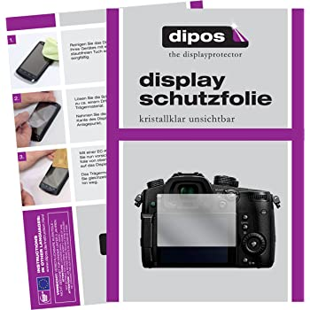 dipos I 6X Schutzfolie klar kompatibel mit Panasonic Lumix DMC-GH5 Folie Displayschutzfolie