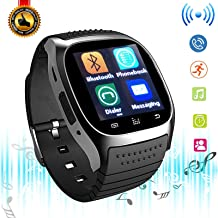 Bluetooth Smart Watch Touchscreen Smart Wrist Watch Fitness Tracker Camera Controller Phone Call Messages Reminder Smartwatch Compatible with Android Samsung Galaxy LG HTC Huawei for Men Women Kids