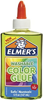 ELMER'S 2022913 Washable Translucent Colour Glue, Green, 147ml, Great for Making Slime