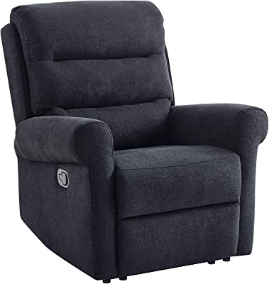 Classic Brands Monroe Upholstered Recliner Chair, Charcoal