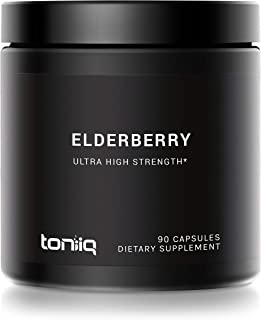 Ultra High Strength European Black Elderberry Extract - 10% Anthocyanins - 30,000mg 30x Concentrated Sambucus Formula - Th...
