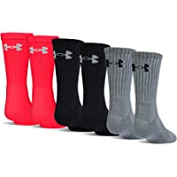 6-Pairs Under Armour Youth Charged Cotton 2.0 Crew Socks