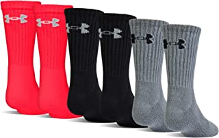 Under Armour unisex-child Charged Cotton 2.0 Crew Socks, 6-pairs
