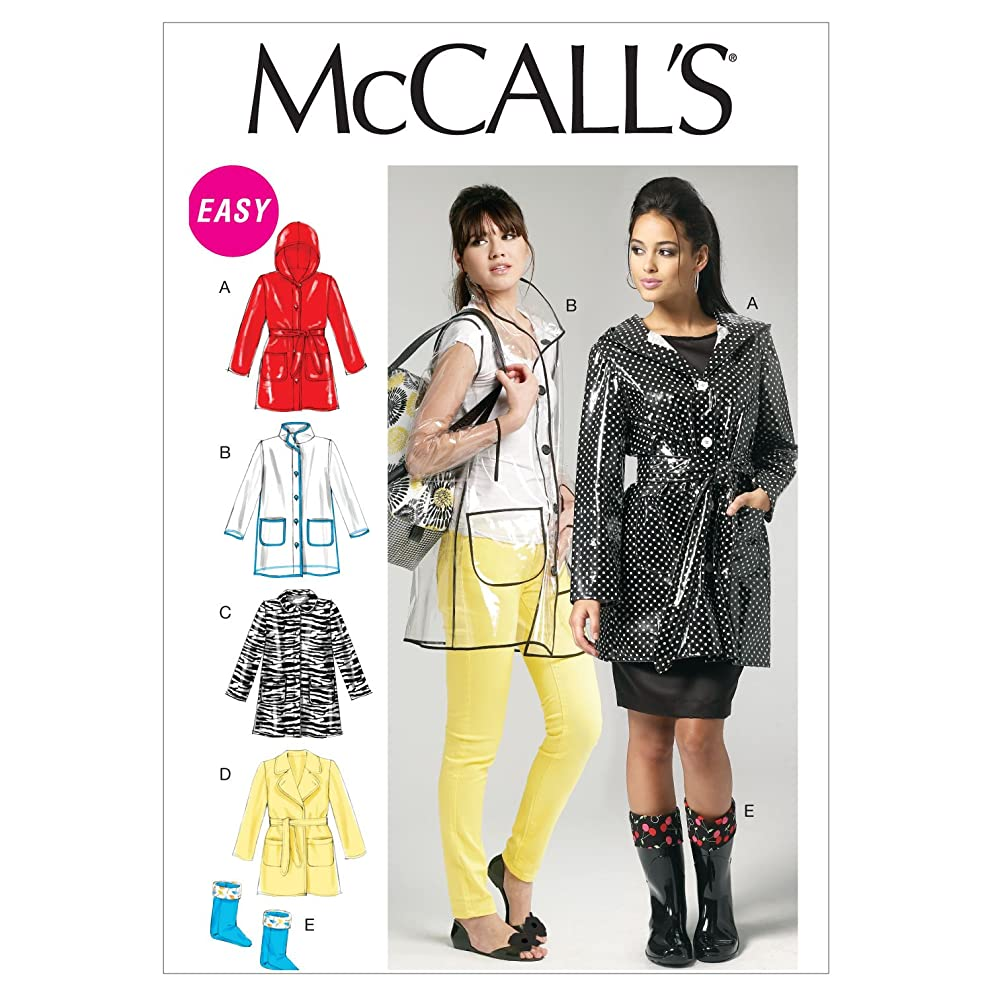 McCall Patterns M6517 Misses' Jacket, Belt and Boot Liners, Size B5 (8-10-12-14-16)