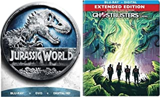 Ghostbusters: Answer the Call Exclusive Steelbook & Jurassic World Limited Edition Blu Ray Movie Bundle Set