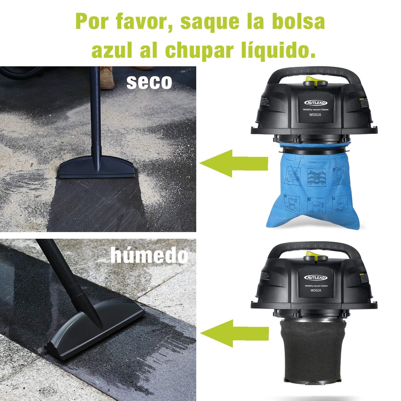 Aspirador Seco-Húmedo, AUTLEAD 1000W 10L Aspiradora Hogar ...