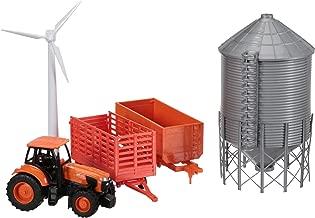 Kubota M5-111 Tractor and Grain Bin Playset