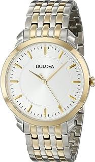 Bulova Men's 98A121XG Quartz Yellow Gold and Silver-Tone Bracelet 41mm Watch(Certified Refurbished)
