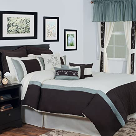Lavish Home 25-Piece Annette Bed-in-a-Bag Bedroom Set,  King