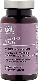Naturally G4U Sleeping Beauty Overnight Makeover Mode Melatonin Vitamin Dietary Supplement, Magnesium, Cruelty and Gluten-...