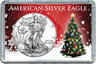 2019 Silver Eagle With Christmas Tree Design Holiday $1 Uncirculated
