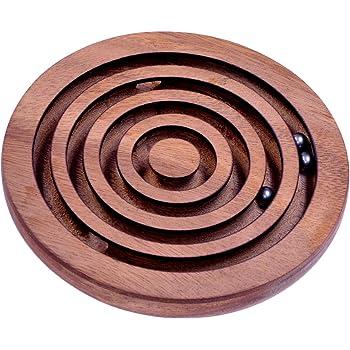 Holzspiel Eulen Labyrinth Motorikspiel Magnetspiel Reisespiel Geduldsspiel Beige