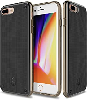 iPhone 7 Plus, iPhone 8 Plus, Patchworks Flexguard Case in [Gold] - Military Grade Corner Protection Case For Apple iPhone 7 Plus / iPhone 8 Plus