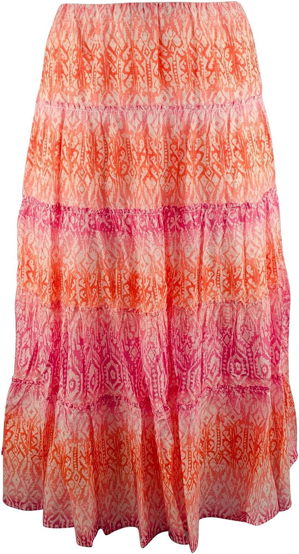 Lauren Ralph Lauren Women's Plus Size Tiered Printed Skirt
