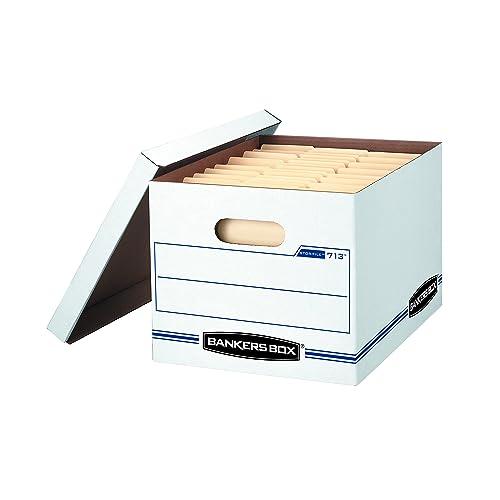 Bankers Box STOR/File Storage Boxes, Standard Set-Up, Lift-Off Lid, Letter/Legal, (0071302)