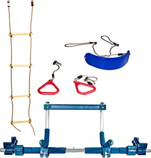 Bonobo Gym Indoor Playground with Indoor Swing, Plastic Rings, and Climbing Ladder