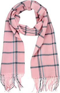 Unisex Classic Softer Than Cashmere Plaid Fringe End Scarf