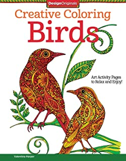 Creative Coloring Birds: Art Activity Pages to Relax and Enjoy! (Design Originals)