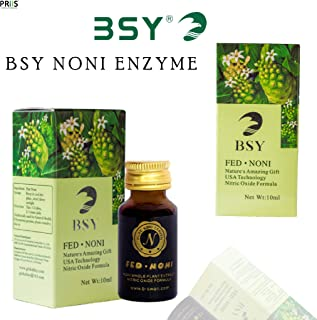 BSY NONI Enzyme | Pure Noni Juice Extract Enzyme (10ml x10 bottles) | Vitamin and Protein Source GMP Certified