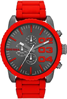 Men's Double Down Stainless Steel Chronograph Quartz Watch