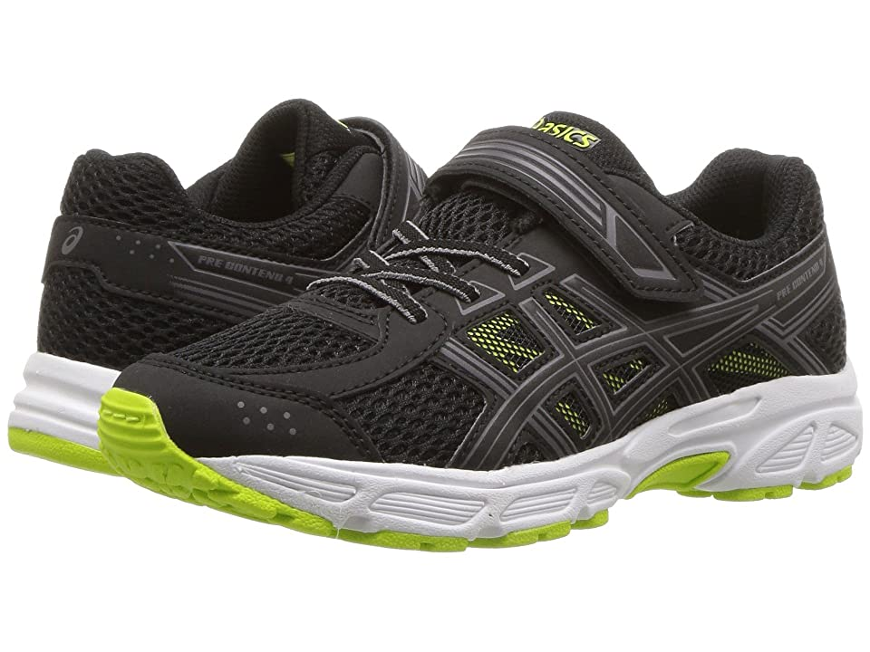 ASICS Kids GEL-Contend 4 PS (Toddler/Little Kid) (Black/Neon Lime) Boys Shoes