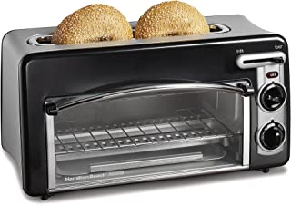 Hamilton Beach 22708 Toastation Oven with Toaster Combo, Ideal for Pizza, Chicken Nuggets, Fries and More, 2-Slice