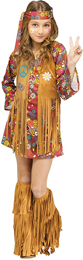 60s 70s Kids Costumes & Clothing Girls & Boys Child Peace & Love Hippie Costume  AT vintagedancer.com