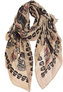 Best womens skull print scarf Reviews