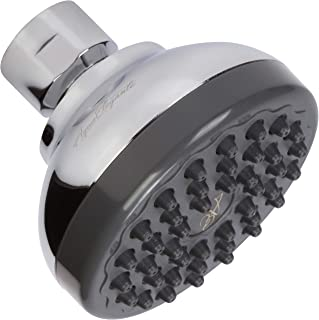 Pressure Boosting Shower Head - High Pressure Water Saver Showerhead Best For Low Flow Showers, 2.5 GPM - Chrome