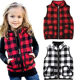 iiniim Toddler Newborns Girls Cute Quilted Thickening Vest with Front Buttons Fall Winter Autumn Casual Outfit