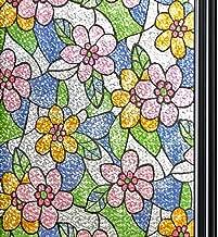 OUNONA Vinilo Pegatina de Ventanas Adhesiva Pegatina Privacidad Efecto 3D Decorativa para Cristal Pelicula Decorativa Electrost/ática para Ventana 45cm*200cm
