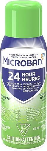 Microban 24 Hour Sanitizing Spray, Fresh Scent 12.5 OZ
