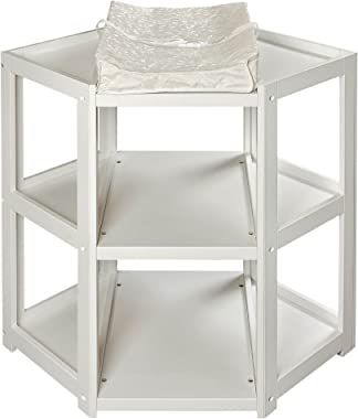 Diaper Corner Baby Changing Table with Contoured Pad