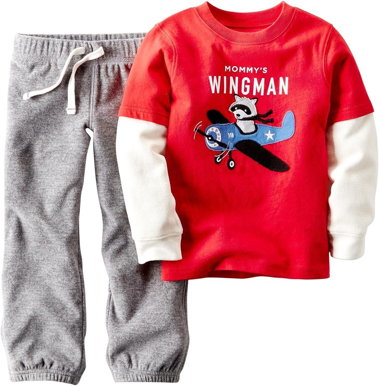 Carter's Baby Boy's 2 Piece Two Fer Set - Wingman - 12 Months