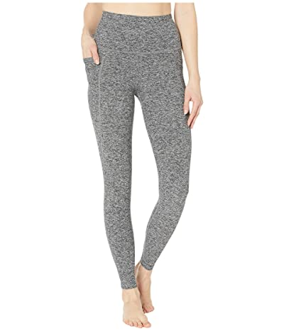 Beyond Yoga Spacedye High Waisted Pocket Midi Legging (Black/White Spacedyed) Women