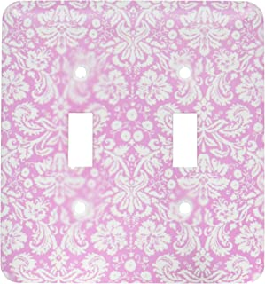 3dRose lsp_151451_2 Antique Rose Pink and White Damask Pattern Victorian Fancy Vintage Swirls Girly Stylish Girls Double T...