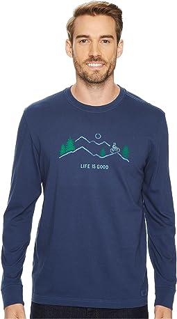 Life is Good - Mountain Bike Vista Long Sleeve Crusher Tee