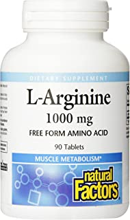 Natural Factors - L-Arginine, Supports Muscle Metabolism, 90 Tablets