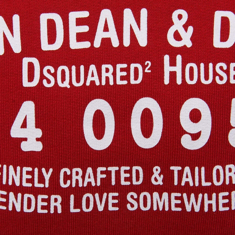 2322AB Felpa Bimbo BOY DSQUARED2 red Cotton Sweatshirt