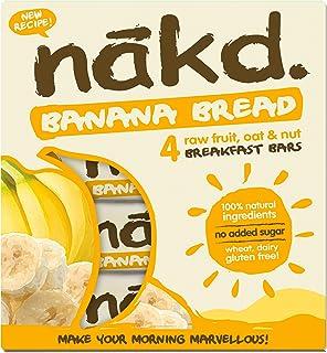 Nakd Gluten Free Banana Bread Bars (Pack of 4), 120 g
