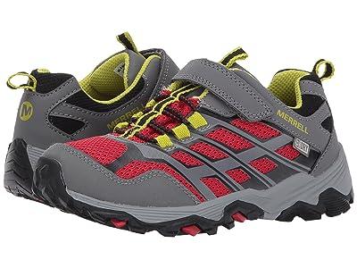 Merrell Kids Moab FST Low A/C Waterproof (Little Kid) (Grey/Red) Boys Shoes